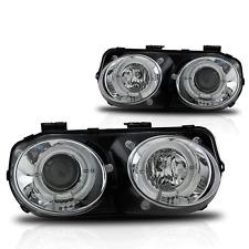 98-01 Acura Integra Chrome/Clear Halo Projector Headlights Pair