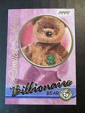 Ty Beanie Babies Series III S3 Limited Edition Billionaire Tear A Bear Card