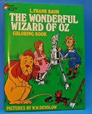 L. Frank Baum The Wonderful Wizard of Oz Coloring Book Dover W.W. Denslow