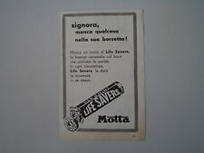 advertising Pubblicità 1955 CARAMELLE LIFE SAVERS MOTTA
