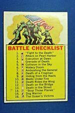1965 Topps Battle Cards - #66 Battle Checklist - VG/Ex Condition
