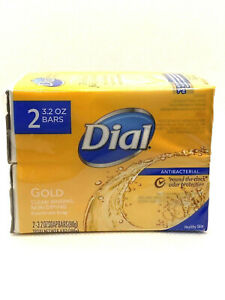 2 BARS SOAP DIAL HAND SOAP GOLD DEODORANT SOAP 3.2 OZ NEW