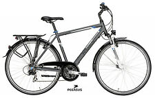 Herren Trekking Fahrrad Pegasus Piazza 28 Zoll 53cm Shimano 21G Alu grau 2017