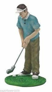 Golfer Figurine Golf Golfing Birthday Cake topper decoration  NEXT DAY DESPATCH