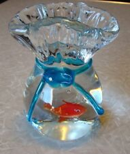 Unusual - Murano - Paperweight - Carnival Goldfish in a Plastic Bag - Very Cool