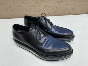 Prada Levitate Bicolor Spazzolato Lace-up Black/Blue  Shoes - Size  US 9 1/2
