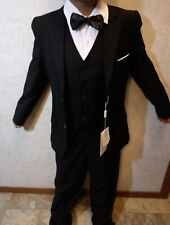 Tuxedos Formal Suits Set Kids Black Slim Fit Suit for Party,Holidays,(size 8)5pc