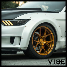 """20"""" ROHANA RFX5 GOLD FORGED CONCAVE WHEELS RIMS FITS FORD MUSTANG GT GT500"""