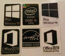 Intel Core i5 vPro Inside Black Sticker 15.5 x 22mm  PC stickers Windows 10 star