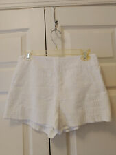 "Women Free People White Textured High Waisted Shorts Size 6 2"" inseam"