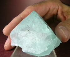 DAYGLO LIGHT TURQUOISE GREEN FLUORITE CRYSTAL, HIGHLY FLUORESCENT, YAOGANGXIAN