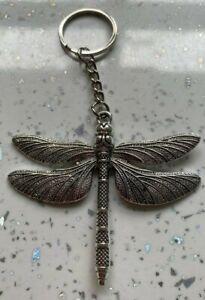 Handmade large dragonfly key ring keychain keyring fob bag charm