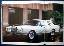 Prospekt brochure 1984 Lincoln Mark VII * Continental * Town Car (USA)