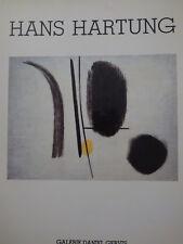 Hans Hartung Galerie Daniel Gervis  1985
