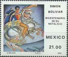 Timbre Personnages Chevaux Mexique 1017 ** (39335)