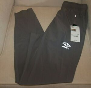NWT Men's Umbro Athletic Jogger Training Wind Pants Industrial Gray Sz S Small