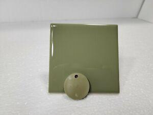 Avocado Green Ceramic Tile 4x4 4.25 inch Subway Square Classic Color 125 Vintage