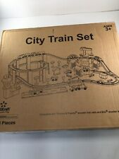 KidKraft Wooden City Train Set Compatible W/ Thomas & Friends And Brio 103 Piece