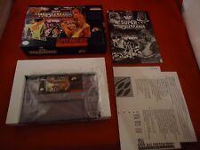WWF Super WrestleMania (Super Nintendo, 1992) SNES COMPLETE w/ Box manual game