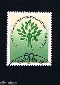 GERMANIA BERLINO BERLIN 1 FRANCOBOLLO GINECOLOGIA E OSTERTRCIA 1985 timbrato