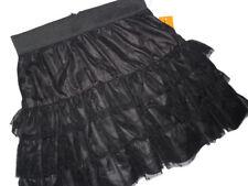 CYNTHIA Steffe  Black whimsical layered lace Skirt size 6 retail $175