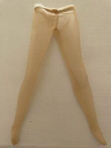 Barbie Doll Beige Footed Pantyhose Stockings Lingerie Dress Fishnet Silkstone
