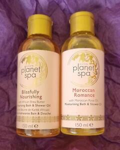 2 x AVON Planet Spa Bath & Shower Oil Blissfully Nourishing & Moroccan Romance
