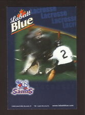 New York Saints--2003 Pocket Schedule--Labatt Blue--NLL