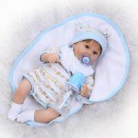 """17"""" 42cm Reborn Baby Boy Doll Realistic Lifelike Soft Silicone Dolls Toddler"""