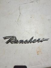 1960-65 FORD RANCHERO EMBLEM BADGE SCRIPT TRIM CHROME METAL NAMEPLATE VINTAGE