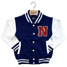 infantil Chaqueta Beisbol Varsity personalizado con verdadero Uni Letra N
