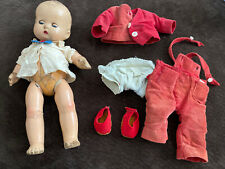 Vintage Doll With Damage.  Eyes Open And Close.  See Photos For Damage