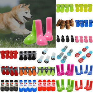 Pet Dog Cat Paw Protective Warmer Socks Bootie Shoes Warm Non-Slip Rain Boots