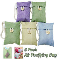 5 pack Air Purifying Bag Nature Fresh Style Charcoal Bamboo Purifier Mold Odor