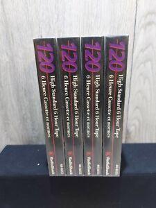 Radio Shack Blank Video Cassette High Standard Tape VHS T-120 2-4-6 Hr Lot of 5