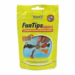 Tetra FunTips Complete Food for All Tropical Fish Healthy Feeding Fun 75 Tablets