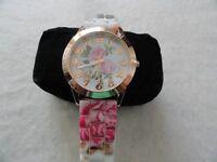 "New Ladies ""Floral"" Quartz Watch"