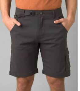 Prana Stretch Zion Shorts NWT Charcoal and Mud Color Best Discount
