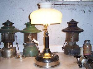 Vintage Coleman table lamp, model CQ, 1929, original shade, works