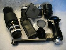 Vintage Canon Ae-1 camera/3 lenses + accessories Nice Lot!