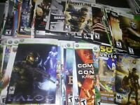 Lot of 108 XBOX 360 video Gaming Manuals only, ALL GOOD TITLES,UNPICKED!