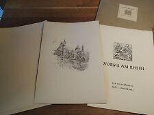 Worms , Der Wiederaufbau mit Wiederaufbauplänen Walter Köhler Mappe 1946 Rarität