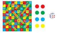 12 Snakes & Ladders Games - Pinata Toy Loot/Party Bag Fillers Wedding/Kids