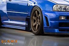 Nissan Skyline R34 Carbon Fiber Aero Side Diverters Performance Side Skirts V6