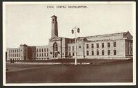 Hampshire. Southampton. Civic Centre. Vintage Real Photo Postcard