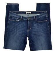 Banana Republic Women 30 Skinny Ankle Jeans Pants  Denim Dark Wash Stretch Blue