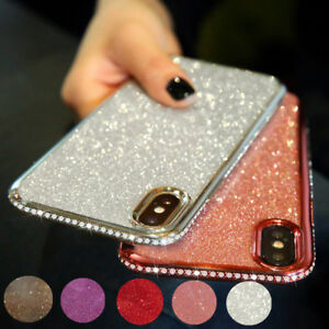 Bling Glitter Diamonds Bumper Silicone Case Cover For iPhone XS Max XR X 8 7 6S
