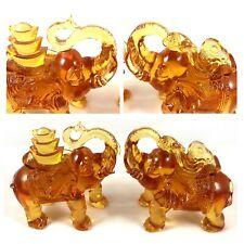 Amore Jewell New Elephant Dual 2pcs/Set Home Office Ornament Liuli Crystal Glass