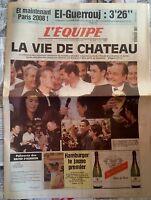 L'Equipe Journal 15/07/1998; Mondial de Football; La vie de Château