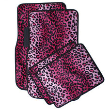 Car Auto Floor Mats for Kia Soul Rug Pink Safari Leopard Animal Print Carpet
